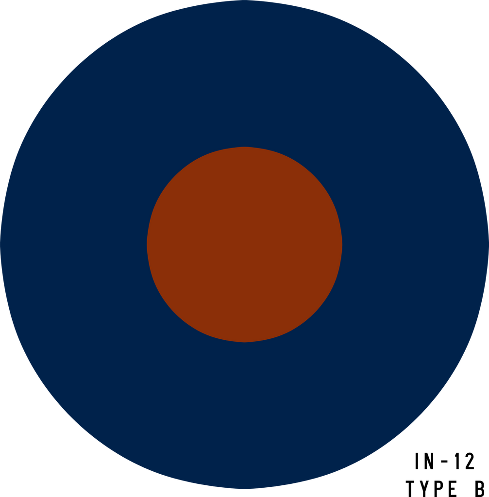 RAF Type B Military Aircraft Roundel Insignia - Decal or Paint Mask