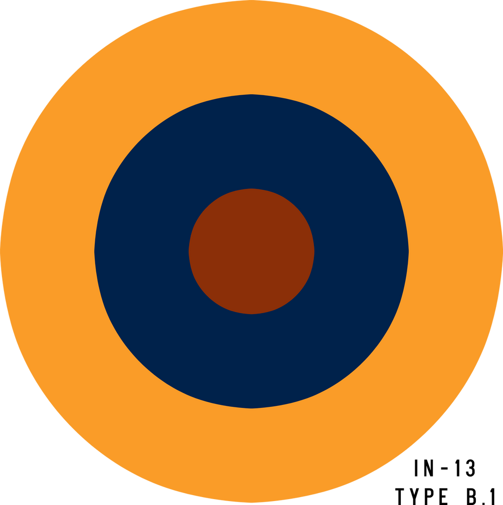 RAF Type B.1 Roundel - Decal or Paint Mask