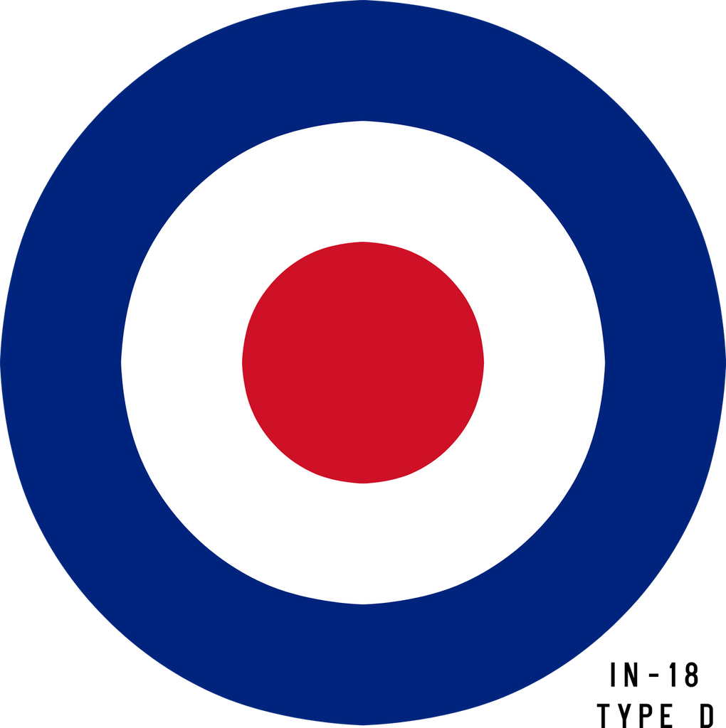 RAF Type D Roundel - Decal or Paint Mask