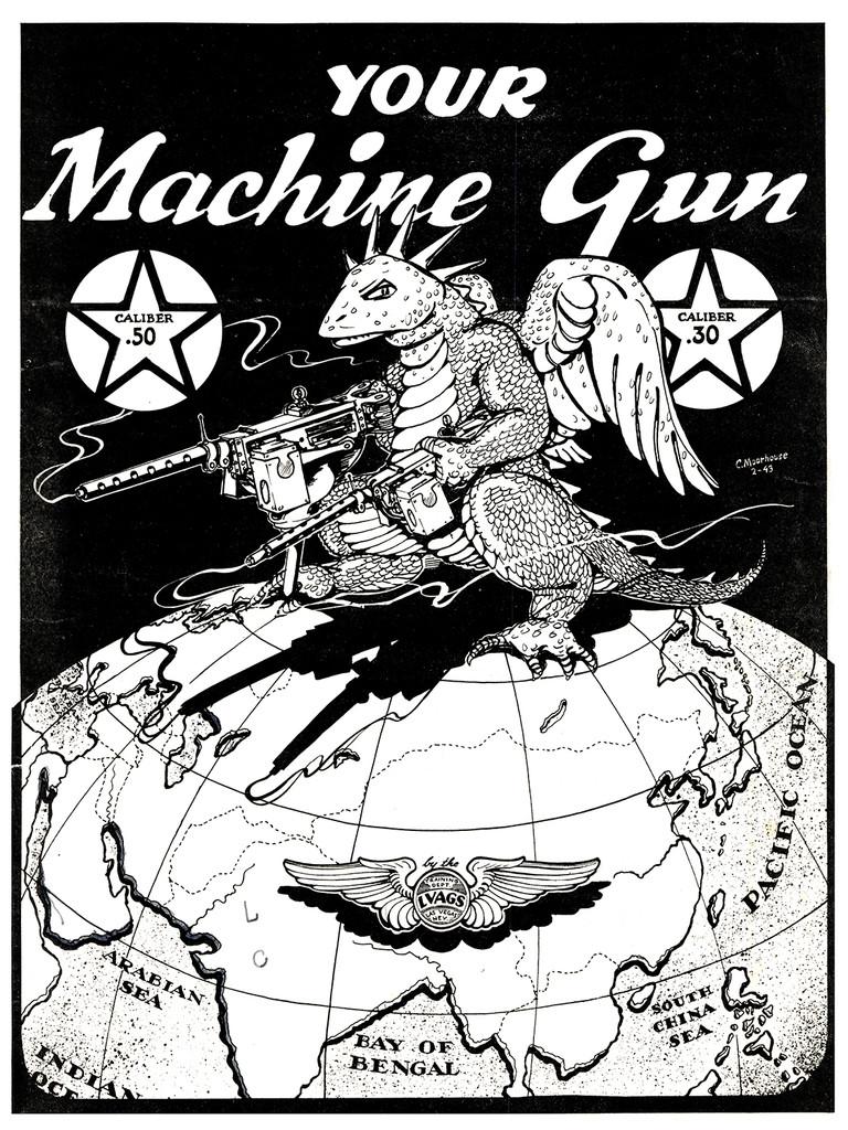 Your Machine Gun Vintage Poster