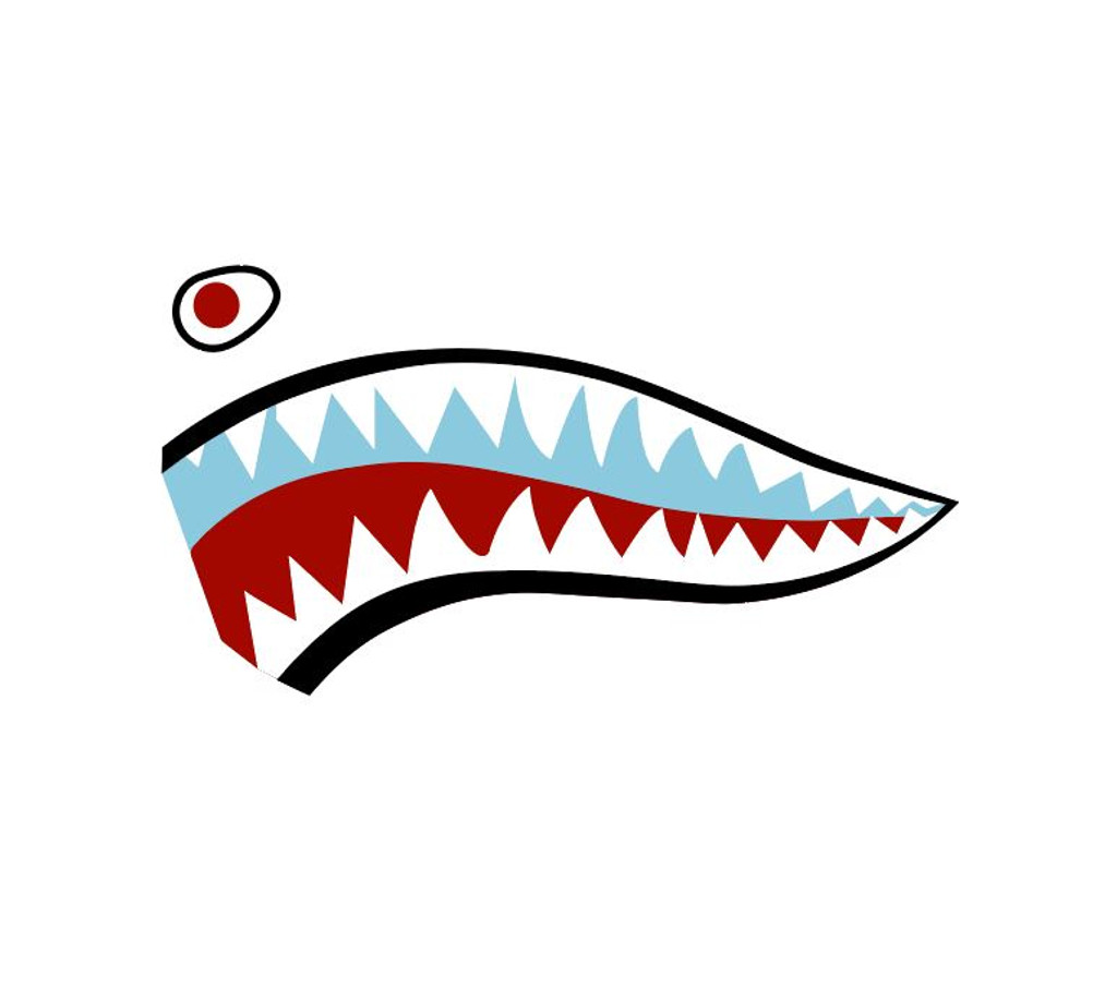 Shark Mouth Teeth Nose Art Military Aircraft Decal SM-04