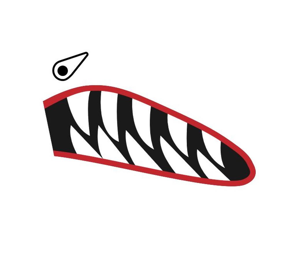 Shark Mouth Teeth Nose Art Military Aircraft Decal