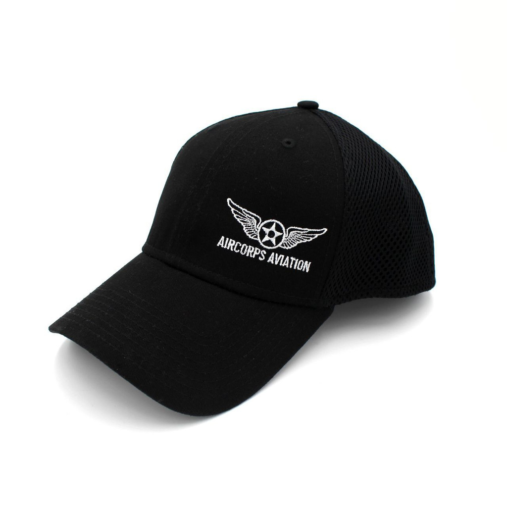 Fitted Logo Cap Black
