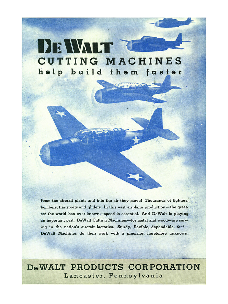 """DeWalt """"Helps Deliver them Faster"""" Vintage Poster"""