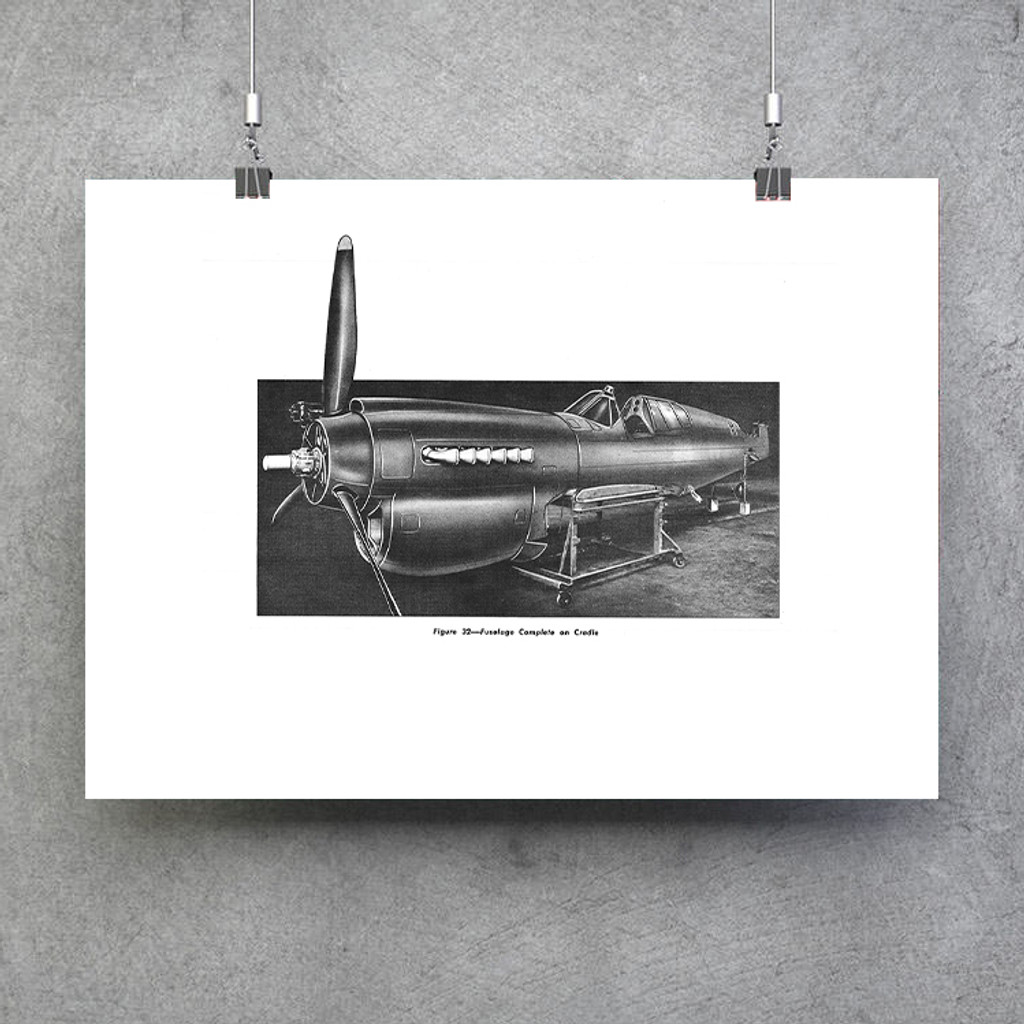 Curtiss P-40 Fuselage Complete in Cradle Poster