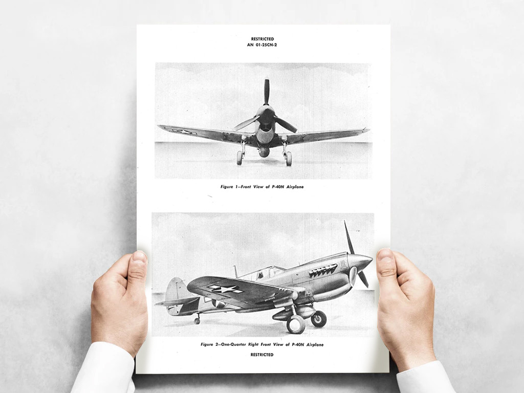 P-40 Fuselage Exploded View Poster