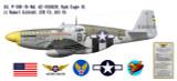 "P-51B Mustang ""Bald Eagle III"" Profile Print Decal"