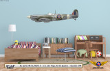 Spitfire Mk IXc Decorative Aircraft Profile on Kids Room Wall Mockup Display