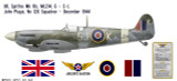 Spitfire Mk IXc Decorative Military Aircraft Profile Print Wall Art Decal