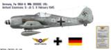 Fw 190A-8 Decorative Military Aircraft Profile