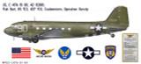 "C-47A Dakota ""Flak Bait"" Decorative Military Aircraft Profile"
