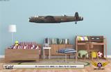 Lancaster B III Decorative Military Aircraft Profile on Kids Room Wall Mockup Display