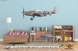 "P-51D Mustang ""Twilight Tear"" Decorative Military Aircraft Profile Wall Mockup Display"