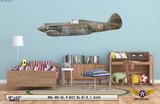 H81-A2 Tomahawk Aircraft Profile Print on Kids Room Wall Mockup Display