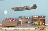 H81-A2 Tomahawk Aircraft Profile Print on Kids Room Wall Mockup Display