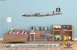 "B-29A Superfortress ""FIFI"" Decorative Military Aircraft Profile on Kids Room Wall Mockup Display"
