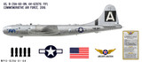 "B-29A Superfortress ""FIFI"" Decorative Military Aircraft Profile"