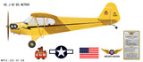 J-3 Piper Cub Decorative Aircraft Profile