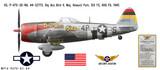 """P-47D Thunderbolt """"Big Ass Bird II"""" Decorative Military Aircraft Profile"""