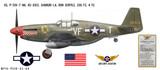 "P-51B Mustang ""Shangri-La"" Decorative Military Aircraft Profile"