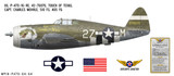 "P-47D Thunderbolt ""Touch of Texas"" Decorative Military Aircraft Profile"