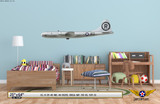 "B-29 Superfortress ""Enola Gay"" Decorative Military Aircraft Profile on Kids Room Wall Mockup Display"