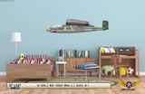 He 162A-2 Salamander Decorative Military Aircraft Profile on Kids Room Wall Mockup Display