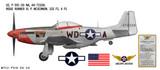 "P-51D Mustang ""Ridge Runner III"" Decorative Military Aircraft Profile"