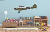 """L-4H Grasshopper """"Rosie the Rocketer"""" Decorative Military Aircraft Profile on Kids Room Wall Mockup Display"""