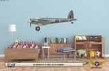 Mosquito FB VI Decorative Military Aircraft Profile Print on Kids Room Wall Mockup Display