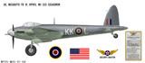 Mosquito FB VI Decorative Military Aircraft Profile Print