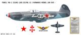 YAK-3 Aircraft Decorative Military Aircraft Profile Print