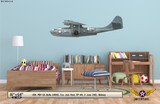 PBY-5A Catalina Decorative Military Aircraft Profile on Kids Room Wall Mockup Display
