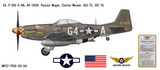 "P-51D Mustang ""Passion Wagon"" Decorative Military Aircraft Profile"