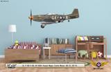 "P-51D Mustang ""Passion Wagon"" Decorative Military Aircraft Profile on Kids Room Wall Mockup Display"