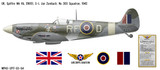 Spitfire Mk Vb Decorative Military Aircraft Profile