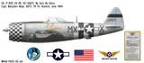 "P-47D Thunderbolt ""No Guts No Glory"" Decorative Military Aircraft Profile"