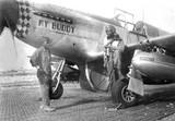 "P-51C Mustang ""My Buddy"" Decorative Military Aircraft Profile Print Wall Art Decal"