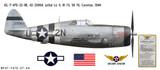 "P-47D Thunderbolt ""Lethal Liz II"" Decorative Military Aircraft Profile"