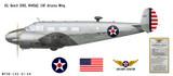 Beech D18S Decorative Military Aircraft Profile