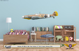 Bf 109G-4 Messerschmitt Decorative Military Aircraft Profile on Kids Room Wall Mockup Display