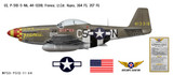 "P-51D Mustang ""Frenesi"" Decorative Military Aircraft Profile"