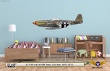 "P-51D Mustang ""Frenesi"" Decorative Military Aircraft Profile on Kids Room Wall Mockup Display"
