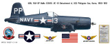 F4U-5P Vought Corsair Decorative Military Aircraft Profile