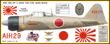 A6M2 Zero Decorative Military Aircraft Profile