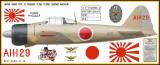 A6M2 Zero Decorative Military Aircraft Profile