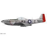 """P-51D Mustang """"Heavenly Body"""" Decorative Military Aircraft Profile"""