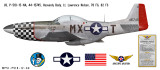 """P-51D Mustang """"Heavenly Body"""" - Military Aircraft Profile Print Wall Art Decal"""