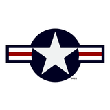 USAF Star and Bars Insignia Military Aircraft Roundel Decal - AN-I-9b Amend 2