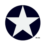 USAF Star and Bars Insignia Military Aircraft Roundel - Spec. AN-I-9b Amend 3
